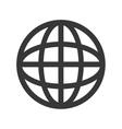 earth globe diagram icon vector image
