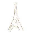 eiffel tower gold sketch vector image vector image