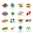 eye blinker business icon daylight glimmer vector image