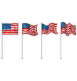 flag design america vector image vector image