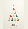 flat fir tree vector image
