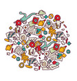 floor with children toys mess on white vector image