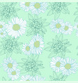 floral abstract camomile flowers seamless pattern vector image vector image