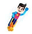 flying superhero business power vector image vector image