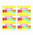 gift card in material design style layers of cut vector image