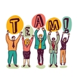 Group business people team sign color vector image