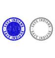 grunge save indians textured stamp seals vector image vector image