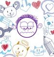 hand drawn cartoon sad boy Education theme graphic vector image vector image