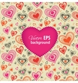 Happy Valentines Day card with pink heart vector image vector image