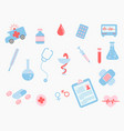 healthcare medical doodle set collection with vector image vector image