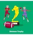 Heisman Trophy Concept Flat Design vector image vector image