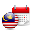 Icon of National Day in Malaysia vector image vector image