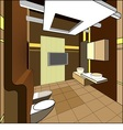 interior of bathroom vector image