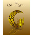 islam ramadan kareem template with gold pattern vector image