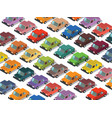 isometric cars vector image vector image