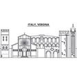 italy verona line skyline vector image vector image