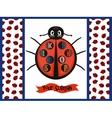 Kids logo with ladybug vector image