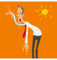 man on a hot day vector image vector image