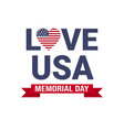 memorial day usa greeting card wallpaper national vector image vector image