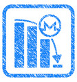monero falling acceleration graph framed stamp vector image vector image
