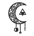 moon circle triangle tattoo design image vector image