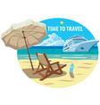 ocean cruise resort vector image vector image