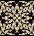 ornate floral baroque 3d seamless pattern vector image vector image