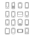 phone line icon vector image vector image