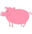 pig animal character cartoon vector image vector image
