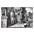 pilate brings jesus before the people and they vector image vector image
