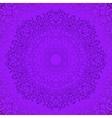 Purple Circle Lace Ornament vector image
