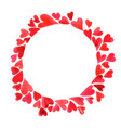 red heart and wreath watercolor on valentines day vector image