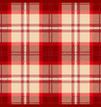 red tartan plaid seamless pattern vector image vector image