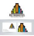 retro hotel logo design vector image vector image