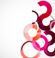 Rings geometric shapes abstract background vector image