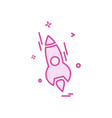 rocket icon design vector image vector image