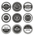 sale premium quality seal and labels vector image