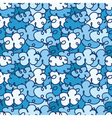 seamless pattern with a lot of clouds vector image vector image