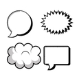 Set icons bubble speech silhouette design