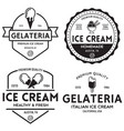 set vintage ice cream shop logo badges and vector image vector image