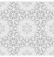 silver mandala seamless pattern vector image
