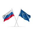 slovenia and european union waving flags vector image vector image