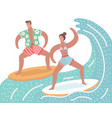 summer beach and water sport activities vector image vector image