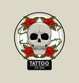 tattoo studio old school vector image vector image