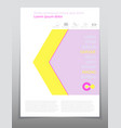 template design layout brochure geometric vector image vector image