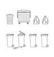 trash cans and dumpsters vector image