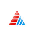 triangle stripe technology logo vector image vector image