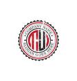 tu initial logo inspirationsvintage badge logo vector image vector image