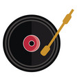 vintage music disc or color vector image vector image