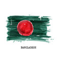 watercolor painting design flag of bangladesh vector image vector image